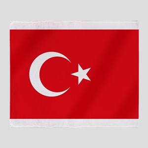 Flag of Turkey Throw Blanket